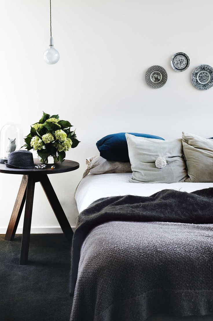 Bedroom inspiration: 15 shades of grey. Styling by Jason Grant. Photography by James Geer.
