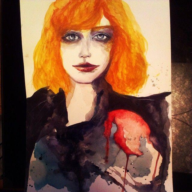 Heart Bleeding/Watercolor