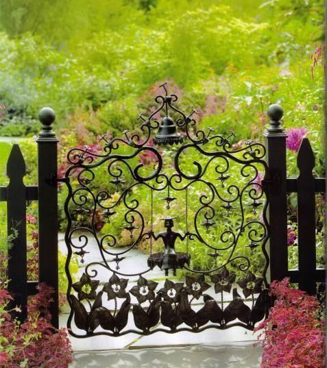 Fantastic garden gate, especially LOVE the bell   ..rh