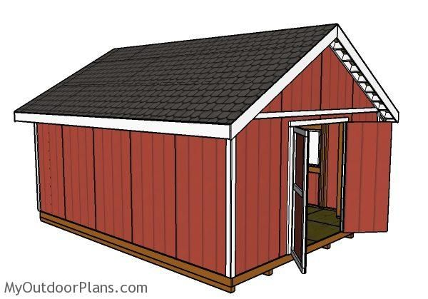 16x20 Shed Plans Myoutdoorplans Free Woodworking Plans And Projects Diy Shed Wooden Playhouse Pergola Bbq Shed Plans Diy Shed Plans Storage Shed Plans