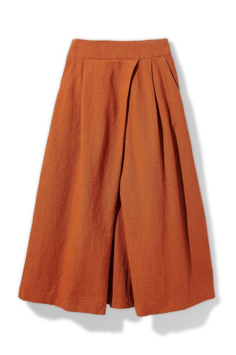 Hot Summer Fashion That Won't Burn Your Budget: A waist-defining number that will turn midiskirt skeptics into fans.  Skirt, $27.95; loveculture.com (20% off with code REDBOOKLC20).