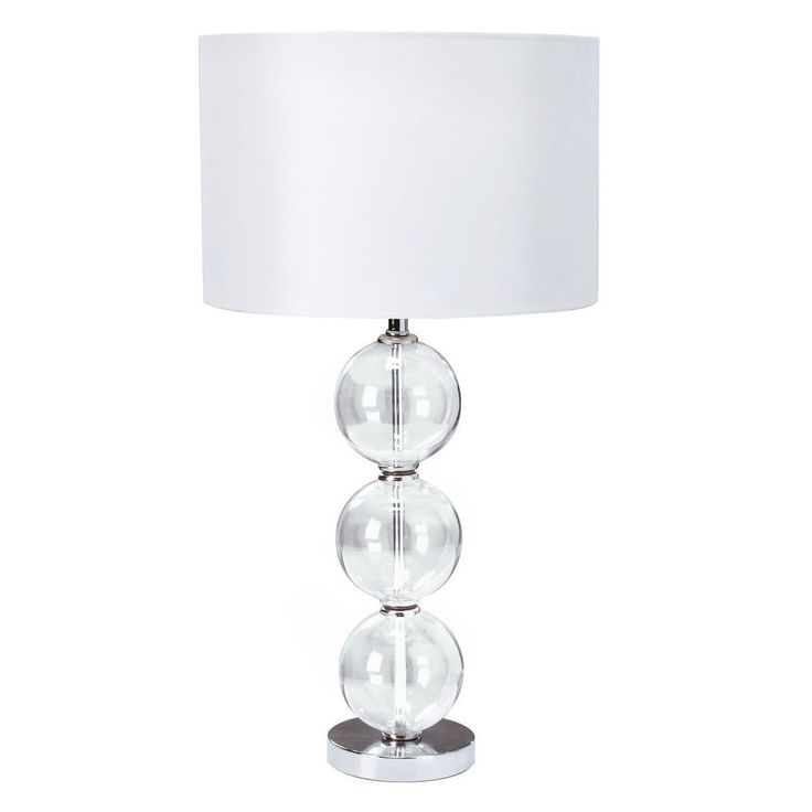 36 best table lamps by dushka ltd london uk images on pinterest searchlight chrome table lamp with glass balls white fabric shade by dushka ltd london uk aloadofball Gallery