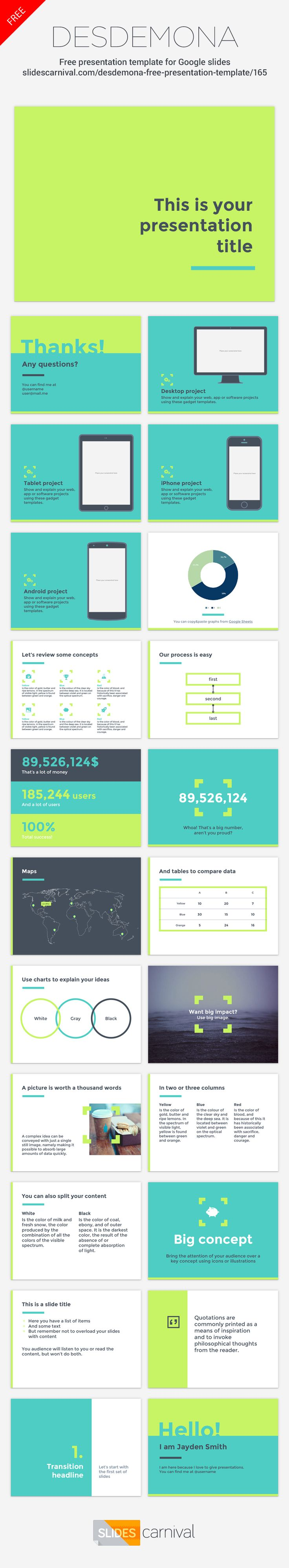 72 best free presentation templates images on pinterest free this fresh template design uses vivid colors and modern layout to engage your public this presentation layoutfree presentation pronofoot35fo Image collections