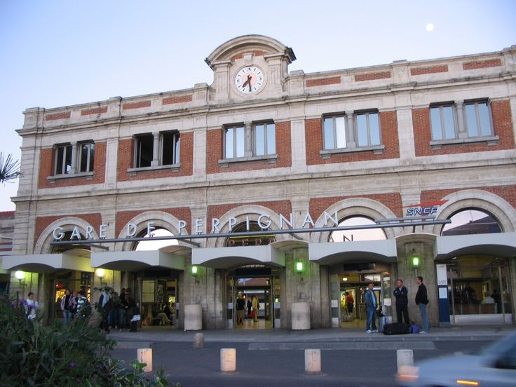 Salvador Dali is credited with declaring Perpignan the center of the universe.  It was from this train station in Perpignan that he began many of his travels.