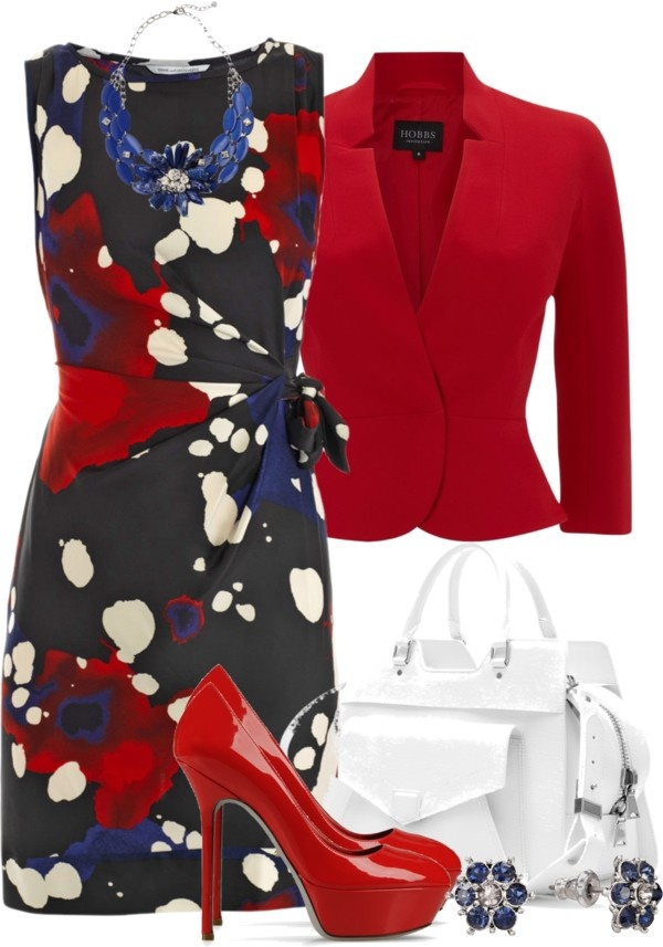"""#Modest doesn't mean frumpy. #DressingWithDignity www.ColleenHammond.com www.TotalimageInstitute.com  """"Red, White and Blue"""" by brendariley-1 ❤ liked on Polyvore"""