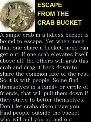 School boy, Bookworm, Nerd...all ways of being a crab in a bucket!