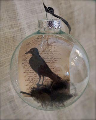 how to raven halloween ornament decor, halloween decorations, seasonal holiday decor