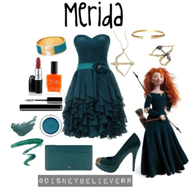 Merida dress. Lol I love this. It's so cute.