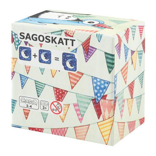 """IKEA - SAGOSKATT, Juego de cartas, 17 pares, Este juego de cartas es un modo divertido de ejercitar la memoria y las habilidades visuales y sociales de tu hijo.Las cartas son resistentes y no se doblan gracias a la superficie laminada, al grosor del papel y a las esquinas redondeadas.Las cartas se pueden usar para hacer juegos de memoria y para explicar la historia del libro """"SAGOSKATT: los amigos del Bosque Fantasía"""". También puedes utilizar la imaginación e inventarte tu propia h..."""