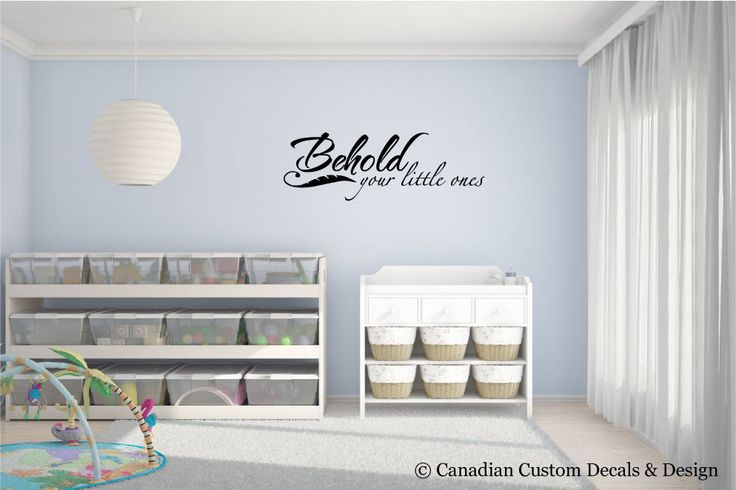 Behold your little ones - Vinyl Wall Decal - Nursery Room - Childrens Room - Wall Art - Home Decor - Baby - Boy - Girl by CanadianCustomDecals on Etsy