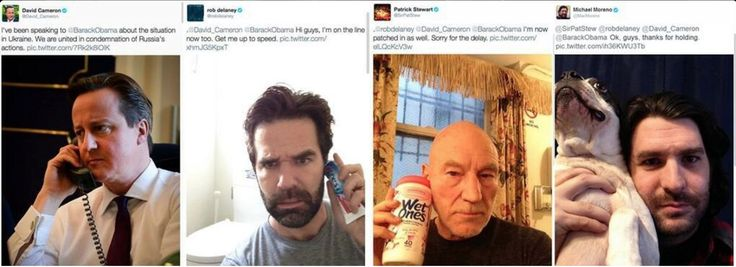 Rob Delaney and Patrick Stewart trolling David Cameron.