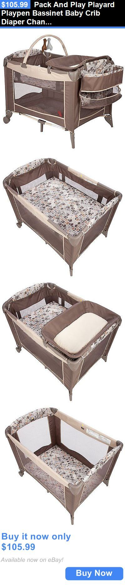 Baby Nursery: Pack And Play Playard Playpen Bassinet Baby Crib Diaper Changer Toddler Bedding BUY IT NOW ONLY: $105.99