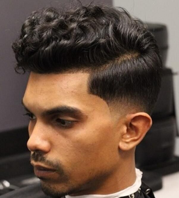 Curly Top Taper Fade For Indian Boys Wavy Hair Men Mens Hairstyles Thick Hair Mens Hairstyles Curly