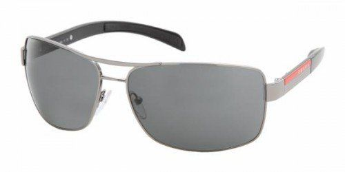 Prada Sport Sonnenbrille (PS 54IS 5AV1A1 65) Prada Sport Sunglasses 54IS 5AV1A1 Gunmetal Grey are a superb flattened aviator shape with a nice wrapped curve to the frame to hug the face close. The Prada red line of (Barcode EAN = 0679420310220) http://www.comparestoreprices.co.uk/december-2016-5/prada-sport-sonnenbrille-ps-54is-5av1a1-65-.asp