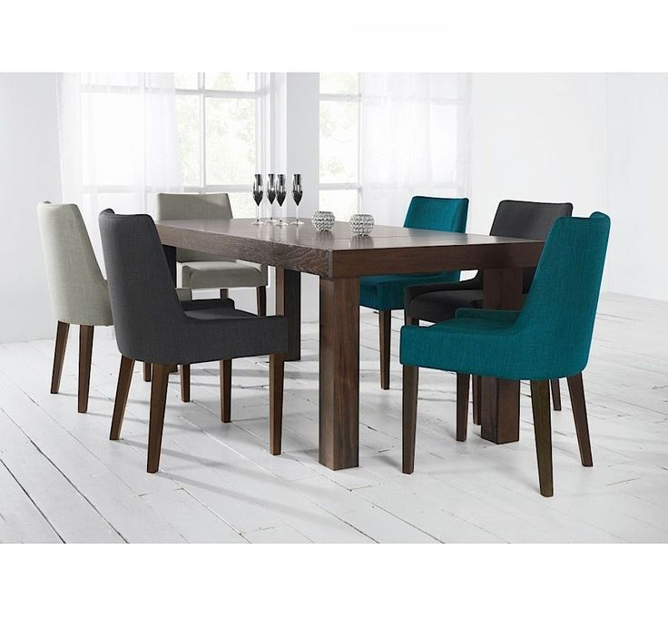 Alex Upholstered Dining Chair With Walnut Legs