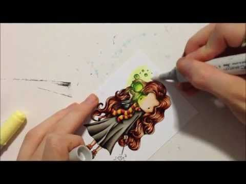 Copic Tutorial - Glowing Objects and Ink Borders
