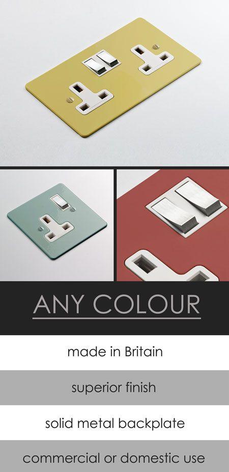 Custom Colours Electrical Plug Sockets (114D)