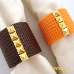 HOW TO: Studded Napkin Rings (recycle your yoga mat!)