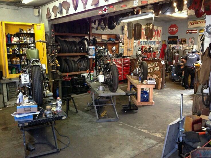 Motorcycle Service Garages : Best motorcycle garage ideas on pinterest