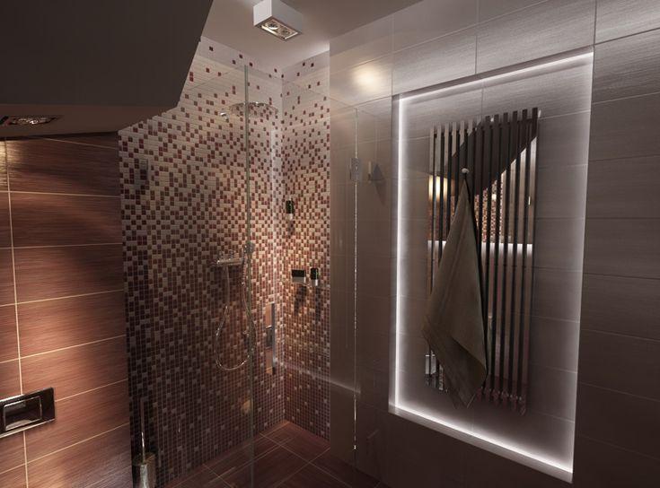 Trudna azienka pod schodami projekt new concept design for Bathroom e pod mara