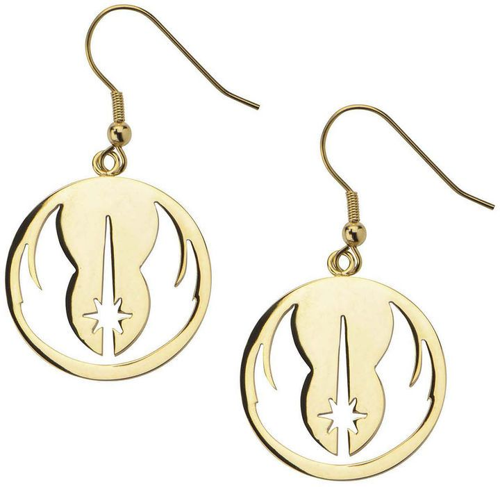 FINE JEWELRY Star Wars Gold Ion-Plated Stainless Steel Jedi Order Drop Earrings