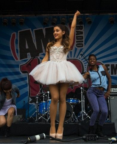 Ariana Grande - 103.3 AMP Birthday Bash in Boston celebs arina grande love kiss cute hair red eyes pretty girl like me food fashion girly pretty dress happy smile hipster hipster girl camera women baby lips makeup bun tan