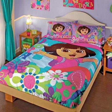 Edredón Ligero Dora Aventuras. #Dora #Recamara #Cuarto #Decoracion #Colchas #Intima #Cobertor #Ideas #IntimaHogar