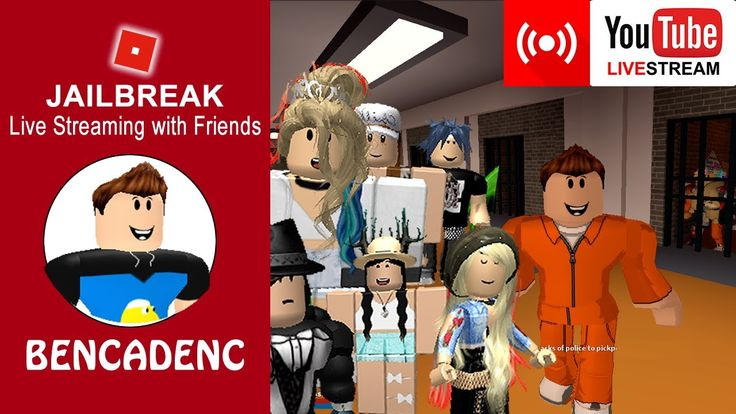🔴 Ben Live Stream Party | Jailbreak with friends and fans!  #ROBLOX #ROBLOXART #Robloxtoys #robloxchallenge  #BloxHour #youtubegaming #youtube #Giveaway #Retweet #gaming #videos #media #share #subscribe