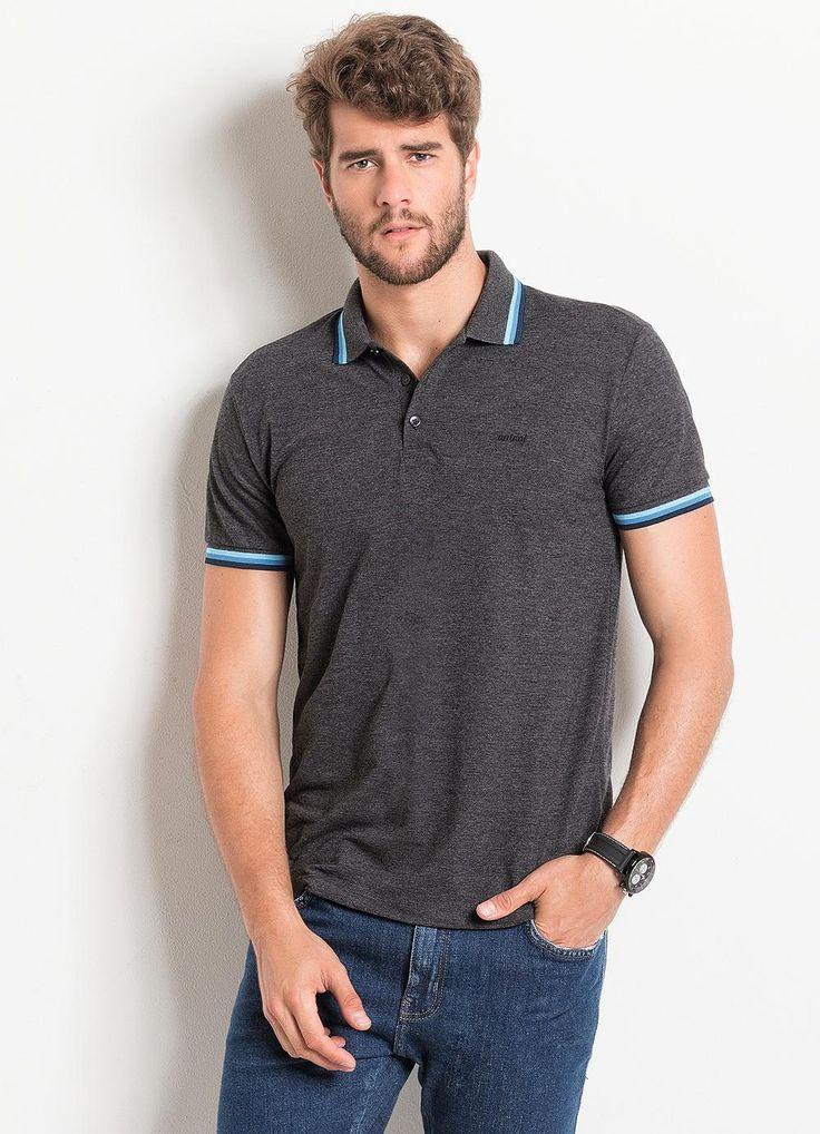 Camisa Polo Masculina Cinza Colcci - Posthaus