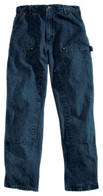 Carhartt Relaxed-Fit Double-Front Washed Logger Jeans for Men - Dark Vintage Blue - 44x34