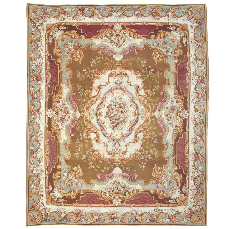 A Large and Ornate 19th Century French Aubusson Carpet or Rug