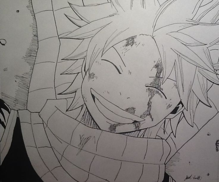 Natsu Dragneel from Fairy Tail  Got super bored in art class and drew this...