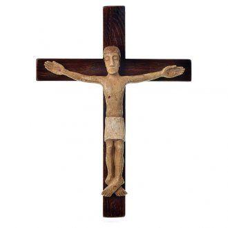 Crocifisso in pietra su legno h 34 cm Bethléem | vendita online su HOLYART