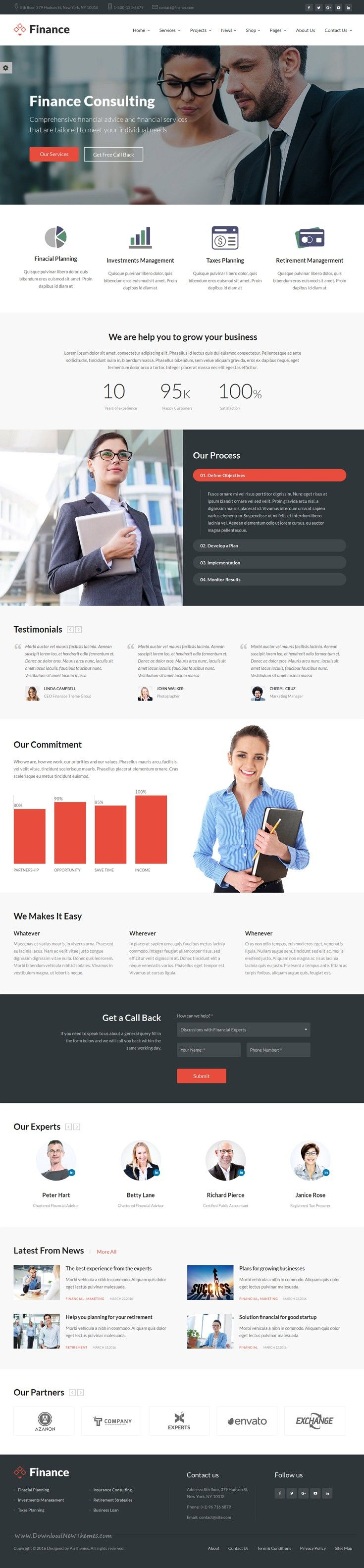 Finance is best Bootstrap HTML5 #Template for #corporate #website like Financial Advisor, Accountant, Consulting Firms, insurance, loan, tax help, Investment firm etc.