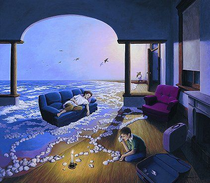 Making Waves by Rob Gonsalves. For more information or to order, call us at 301.881.5977. Email us at info@huckleberryfineart.com or visit our website at www.huckleberryfineart.com