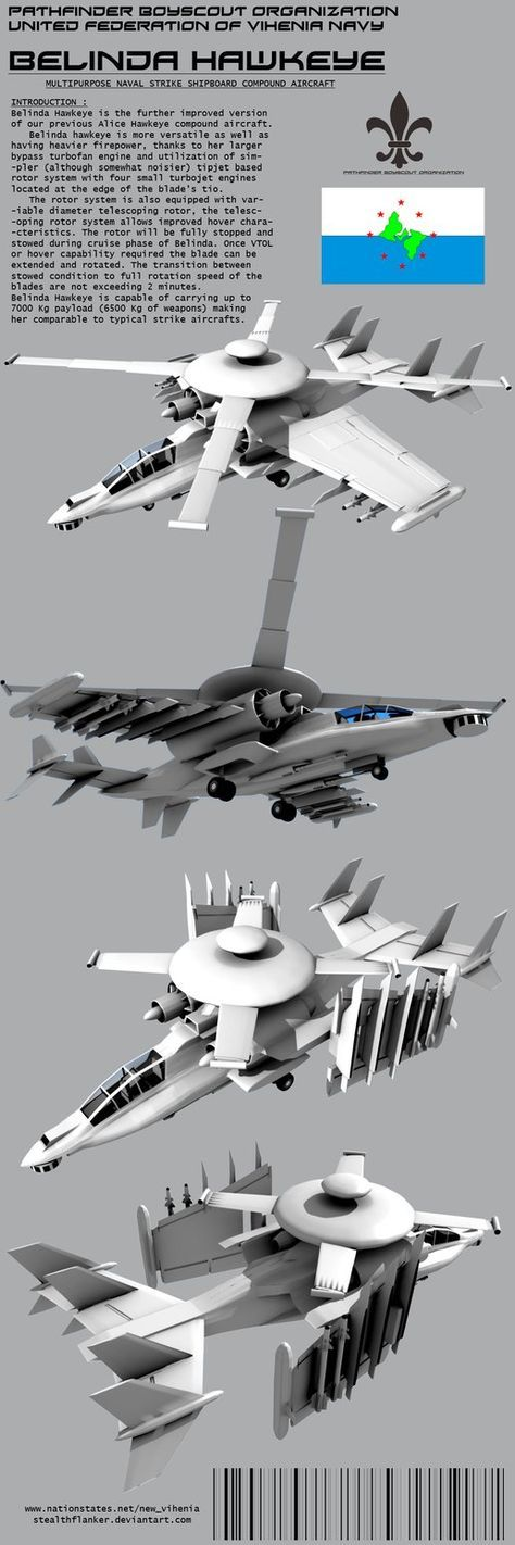 Belinda Hawkeye Compund Aircraft Under Development.. well as well as other Hawkeye attack helicopter family :3 in Blender 3D 2.49B Introductionary Specifications Nicknames : -Vulture (School Newspa...