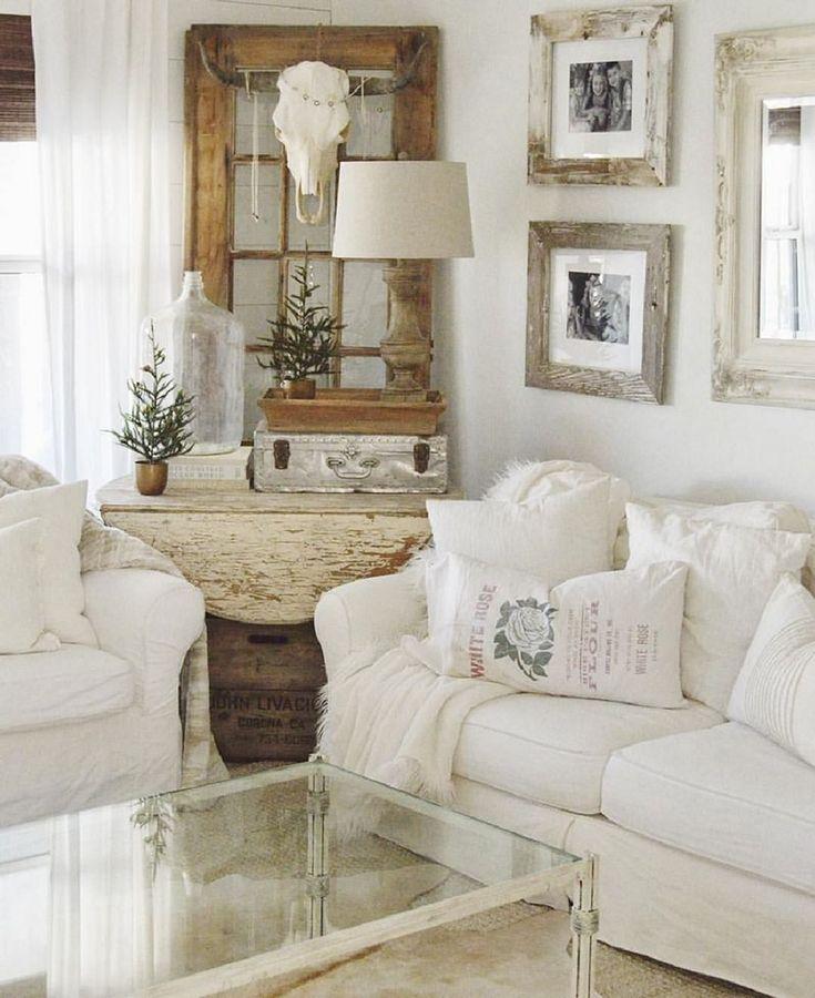 20 Cozy Rustic Farmhouse Living Room Decor Ideas