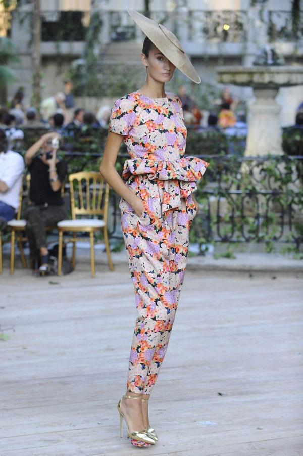 Nova colecção de DelPozo para a Primavera-Verão 2013. #casamento #convidada #calças #peplum