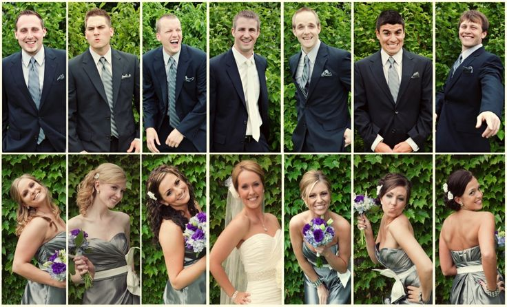 To show each personality in the wedding party-- i love this!