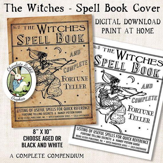 Halloween Book Cover Ideas : Best halloween spell book ideas on pinterest diy