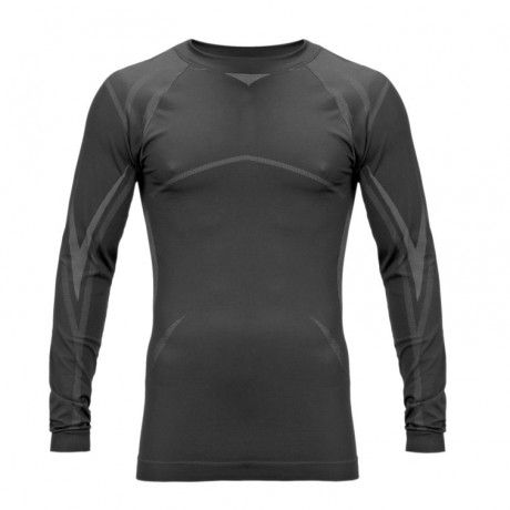 Long-sleeved thermal vest with Thermaskins layer and Microban antibacterial protection.