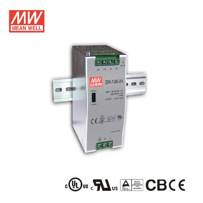 120Watt  48Volt  2.5Amp Single Output Industrial DIN Rail Power Supply Mean Well DR-120-48