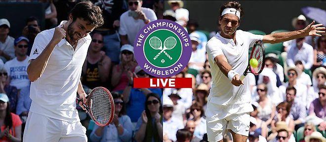 Wimbledon 2015 - Gilles Simon face à la légende Roger Federer.