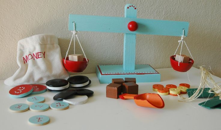 Handmade Old-fashioned Wooden Candy Store Play Set. Amazing gift for kids.