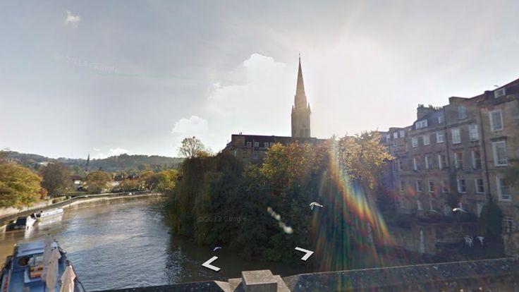 Latitude: 51.380705 (51° 22' 50.54'' N) Longitude: -2.356582 (2° 21' 23.70'' W)  #AvonRiver #Bath #UK #StreetView #Travel #Landscape