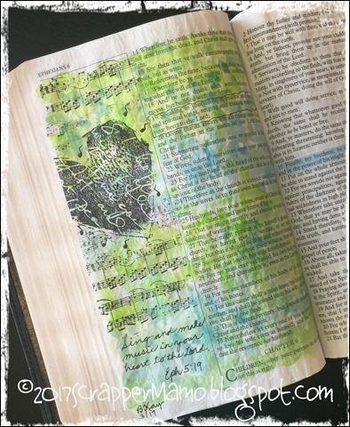 Bible Art Eph 5-19 Make Music in Your Heart