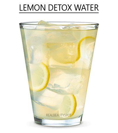 Simple lemon detox water