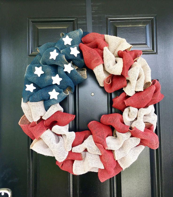 Patriotic wreath ~ Memorial Day/4th of July!