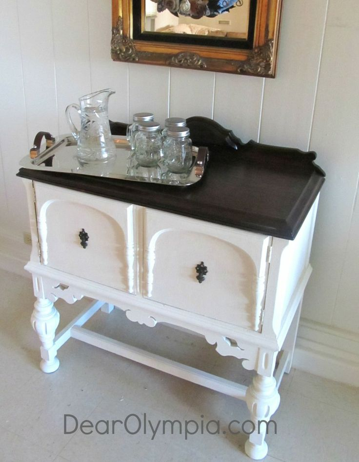 Elegant Sideboard And Server In Cece Caldwell S Vintage White Chalk And Clay Paint Minwax