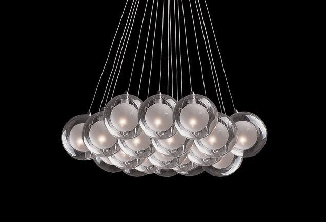 440219 – Nineteen Lamp Pendant with a Bouquet of Bulbs  538.65